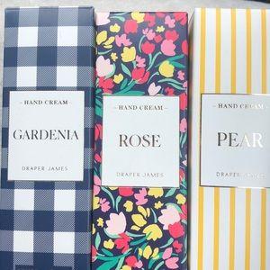 Draper James Hand Cream Set 3 Pear Rose Gardenia